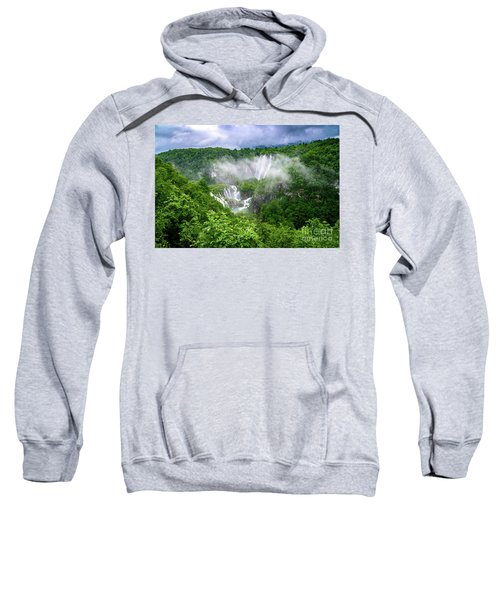 Falls Through The Fog - Plitvice Lakes National Park Croatia Sweatshirt