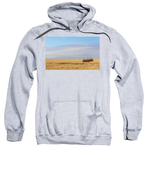 Farm Trailer In The Middle Of Field Sweatshirt