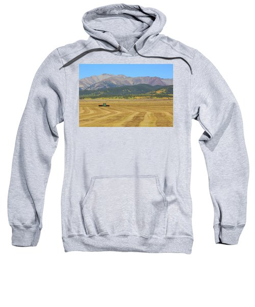 Sweatshirt featuring the photograph Farming In The Highlands by David Chandler