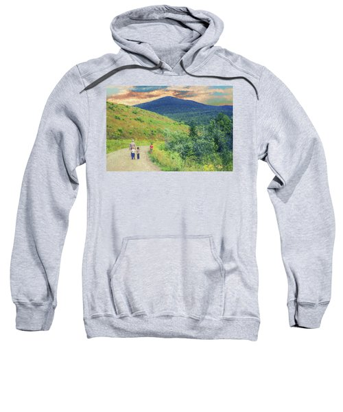 Father And Children Walking Together Sweatshirt