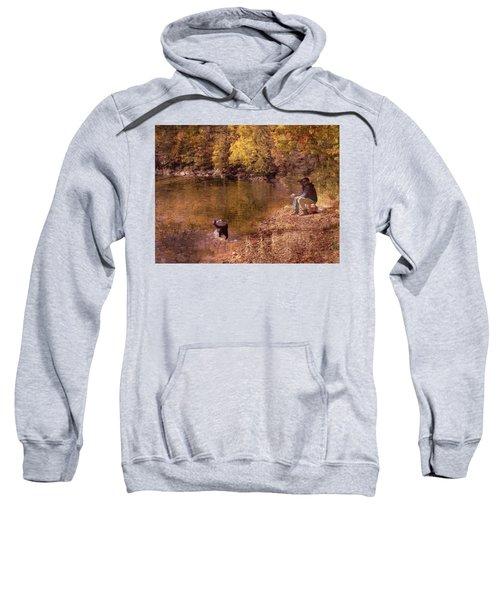Father,son And Dog Sweatshirt
