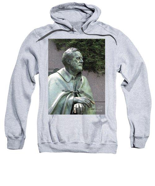 Fdr Statue At His Memorial In Washington Dc Sweatshirt