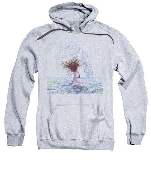 Feeling The Energy Of The Sea Sketch Sweatshirt