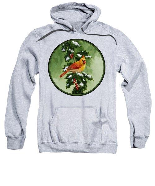 Female Cardinal And Holly Phone Case Sweatshirt