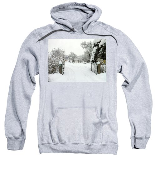 Fence And  Gate In Winter Sweatshirt