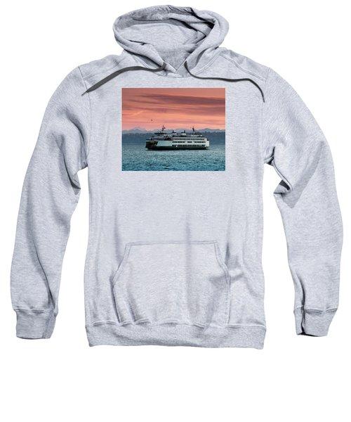 Ferry Cathlamet At Dawn.1 Sweatshirt