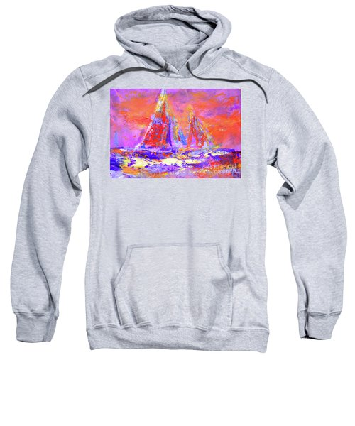 Festive Sailboats 11-28-16 Sweatshirt
