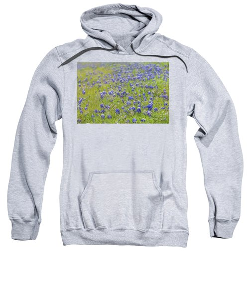 Field Of Blue Bonnet Flowers Sweatshirt