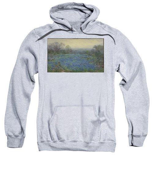 Sweatshirt featuring the painting Field Of Bluebonnets by Julian Onderdonk