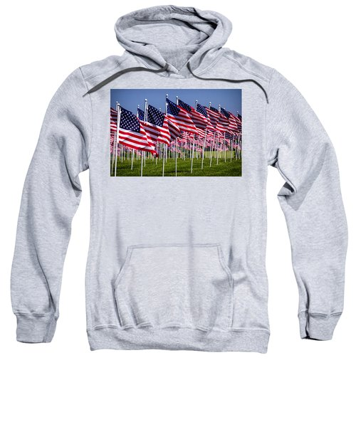 Field Of Flags For Heroes Sweatshirt