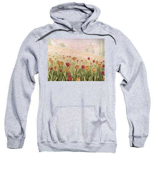 Field Of Tulips Sweatshirt by Kayla Jimenez