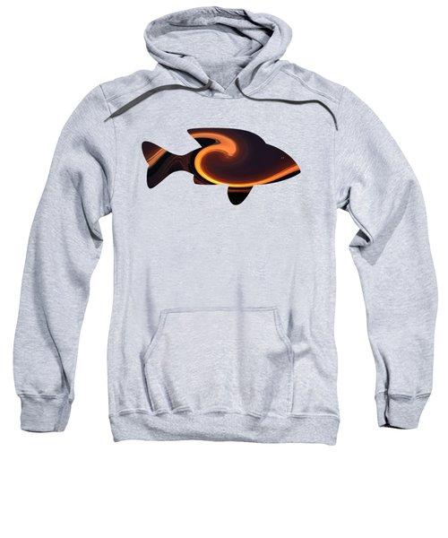 Fiery Wave Fish Sweatshirt