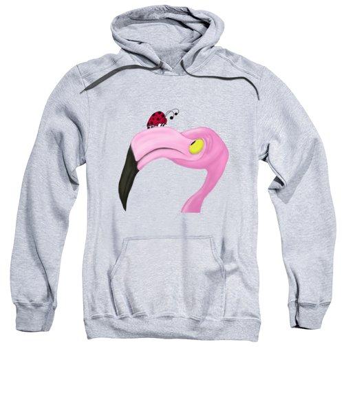 Fiona The Flamingo And Her Visitor Sweatshirt