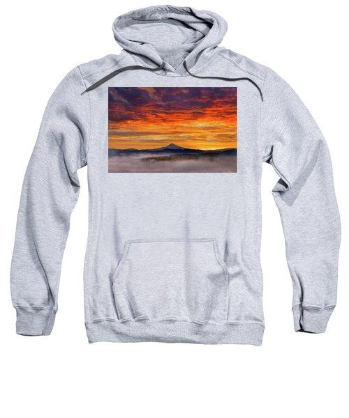 First Light On Mount Hood During Sunrise Sweatshirt