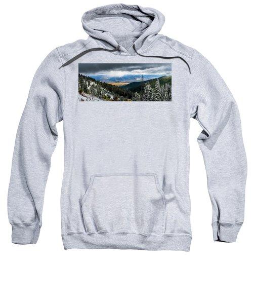 First Snow, Jackson From Teton Pass Sweatshirt