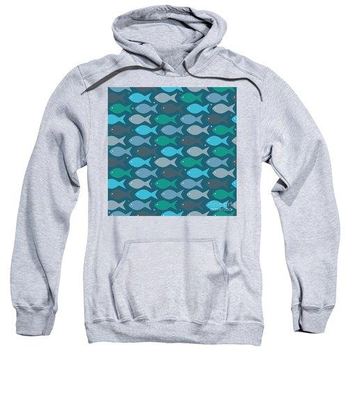Fish Blue  Sweatshirt