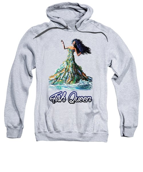 Fish Queen Sweatshirt by Anthony Mwangi