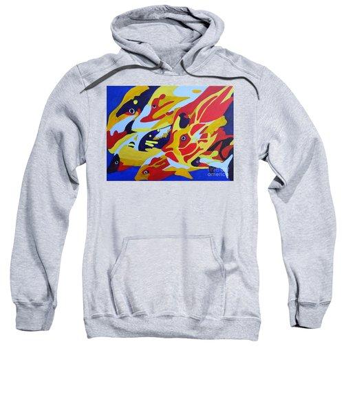 Fish Shoal Abstract 2 Sweatshirt