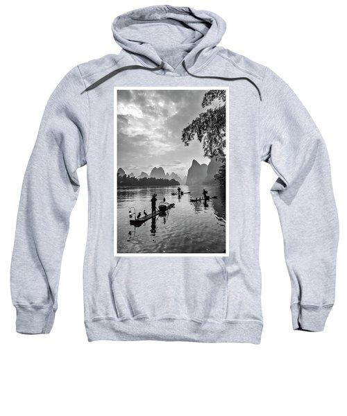 Fishermen At Dawn. Sweatshirt