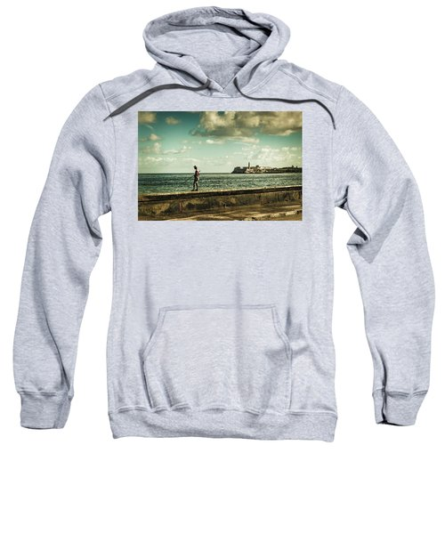 Fishing Along The Malecon Sweatshirt