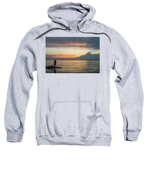 Fishing At Sunset Sweatshirt