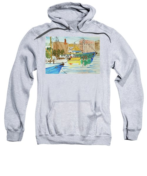 Fishing Boats In Hobart's Victoria Dock Sweatshirt