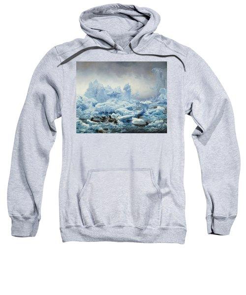 Fishing For Walrus In The Arctic Ocean Sweatshirt
