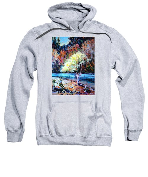Fishing Painting Catch Of The Day Sweatshirt