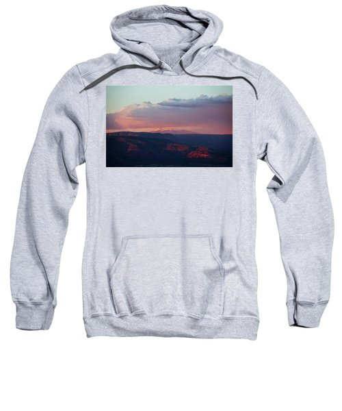 Flagstaff's San Francisco Peaks Snowy Sunset Sweatshirt