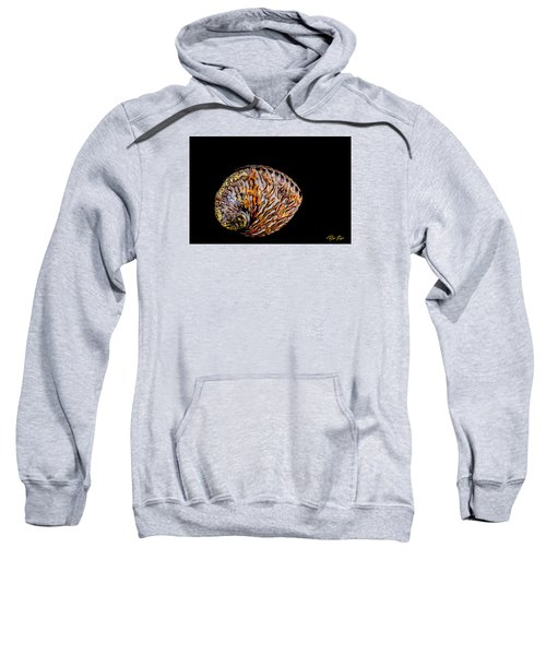 Sweatshirt featuring the photograph Flame Abalone by Rikk Flohr
