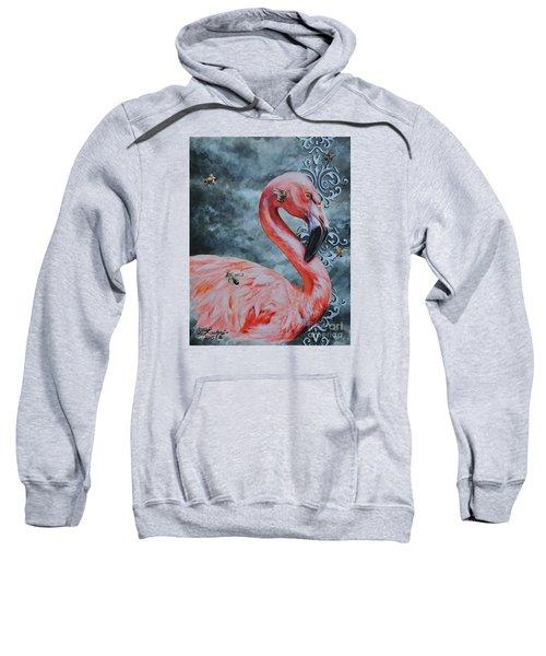 Flamingo And Bees Sweatshirt