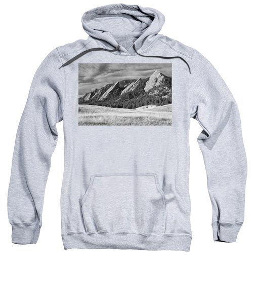 Flatiron Morning Light Boulder Colorado Bw Sweatshirt
