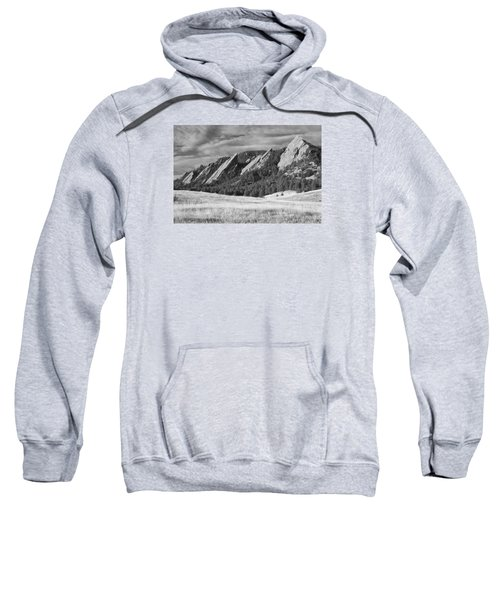 Flatiron Morning Light Boulder Colorado Bw Sweatshirt