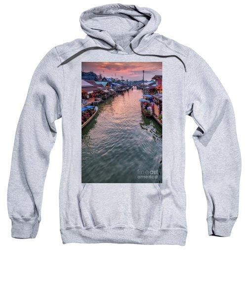 Floating Market Sunset Sweatshirt