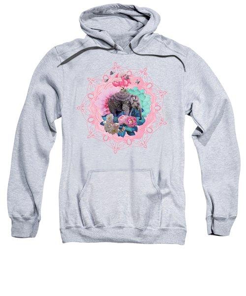 Floral Elephant Sweatshirt