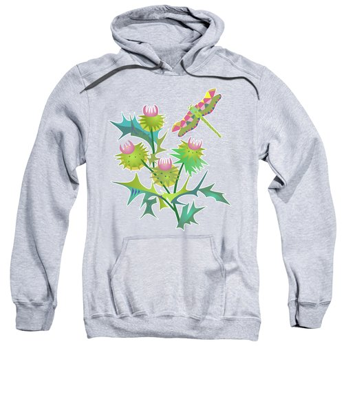 Floral Pattern With Thistle Sweatshirt
