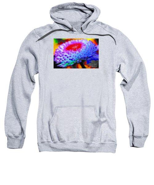 Floral Rainbow Splattered In Thick Paint Sweatshirt