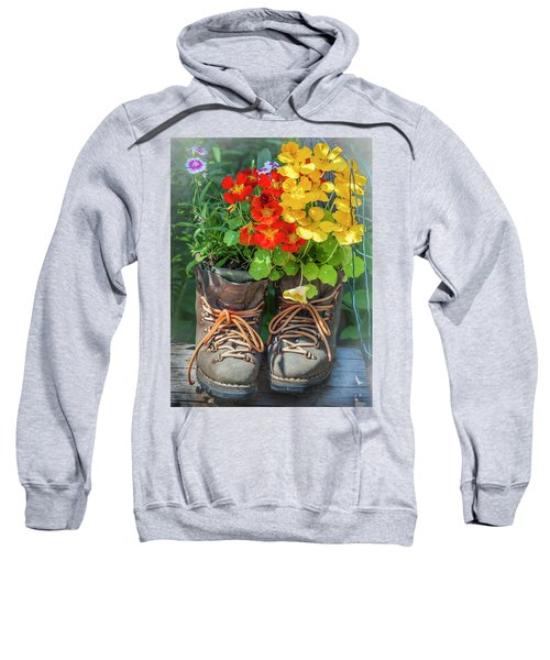 Flower Boots Sweatshirt