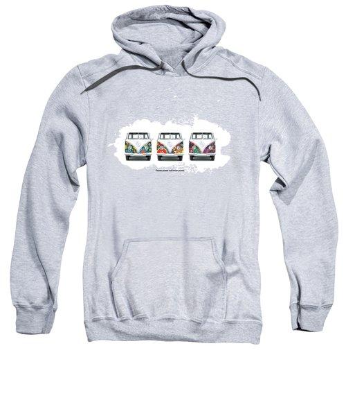 Flower Power Vw Sweatshirt by Mark Rogan