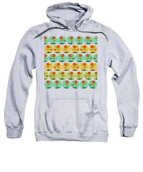 Flowers And Bubbles Pattern Sweatshirt