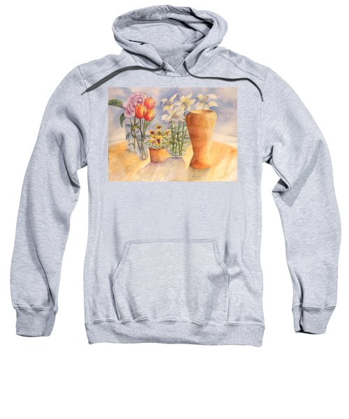 Flowers And Terra Cotta Sweatshirt