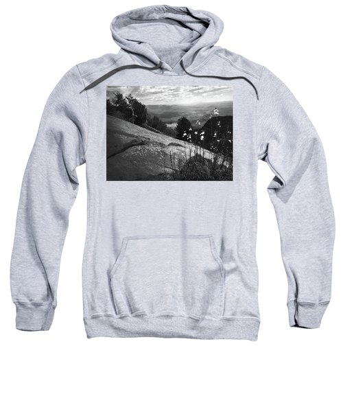 Flowers At Table Rock Overlook In Black And White Three Sweatshirt