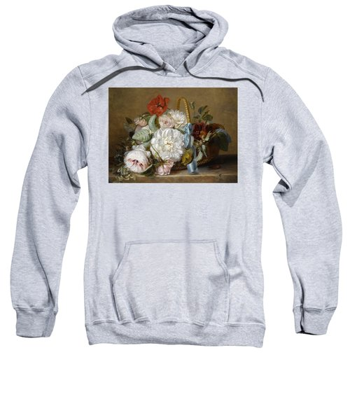Flowers In A Basket Sweatshirt