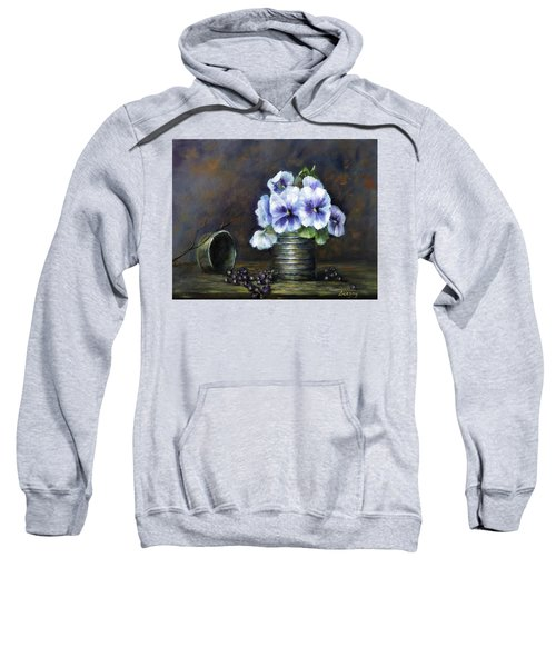 Flowers,pansies Still Life Sweatshirt