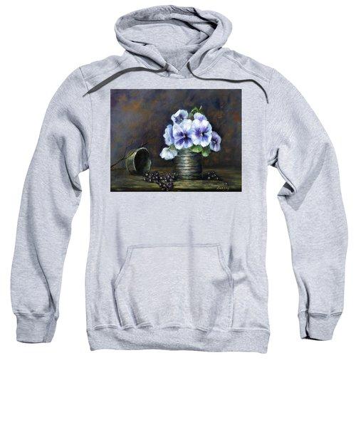 Flowers,pansies Still Life Sweatshirt