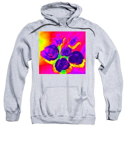 Fluorescent Roses Sweatshirt