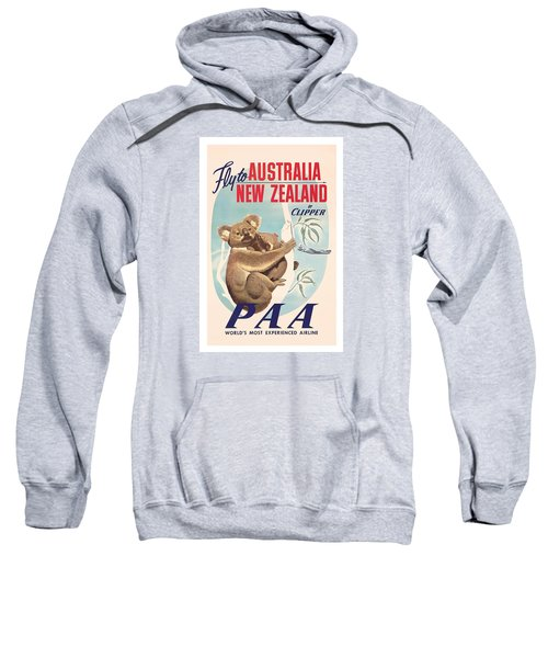 Fly To Australia, New Zealand By Clipper Koala Bears Sweatshirt