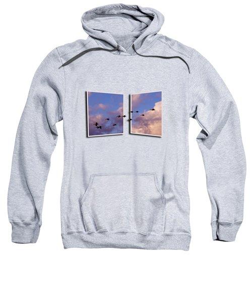 Flying Across Sweatshirt by Roger Wedegis
