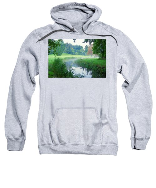 Fog Along A Creek In Autumn Sweatshirt