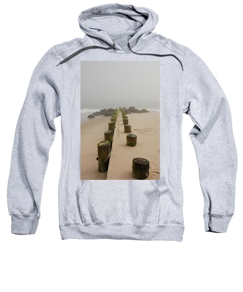 Fog Sits On Bay Head Beach - Jersey Shore Sweatshirt